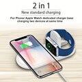 2 в 1 Qi Беспроводное зарядное устройство для iPhone 11 pro Беспроводное зарядное устройство для Apple Watch зарядное устройство для samsung 10 Вт Быстрое бе...