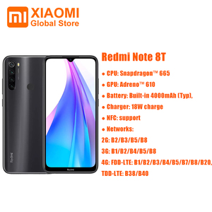 Global Version Xiaomi Redmi Note 8T 4GB 128GB 18W Quick Charge Smartphone Snapdragon 665 48MP Camera 4000mAh NFC Smartphone 6.3