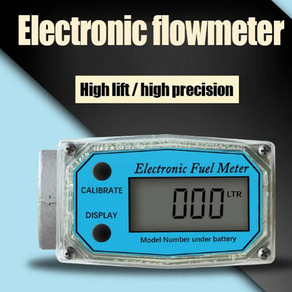 K24 Electronic Tools Measuring Portable High Accuracy Adjustable LCD Fuel Easy Operate Flow Meter Digital Display #734