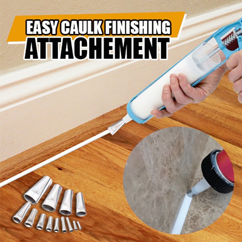 14Pcs/Set Caulking Finisher Stainless Steel Caulk Nozzle Applicator Sealant Finishing Tools Home Decoration Tools