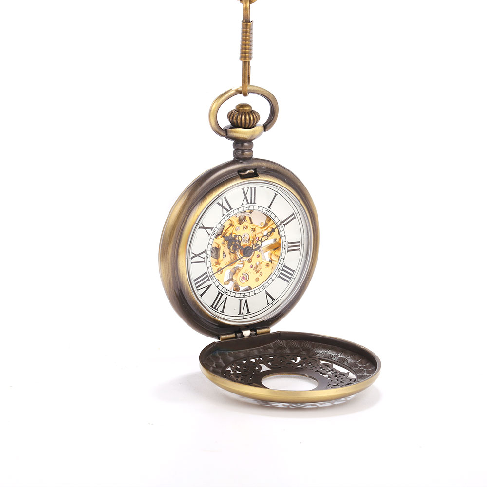 Mechanical Pocket Watch Hollow Carved Court Scale Large Pocket Watch Personality Trend Creative Gift  Mechanical Pocket Watch