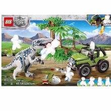 цены 398pcs Jurassic Dinosaur Tyrannosaurus Rex Set Building Block Toy Figure  World Dino Brick B633