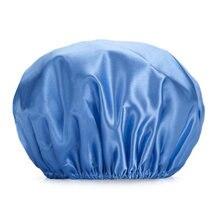 1 шт многоразовые душ Кепки двухслойная Водонепроницаемый защиты