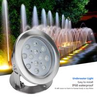 Submersible Vase Decoration 12W RGB Underwater LED Light Waterproof Fountain Lamp for Outdoor Swimming Pool