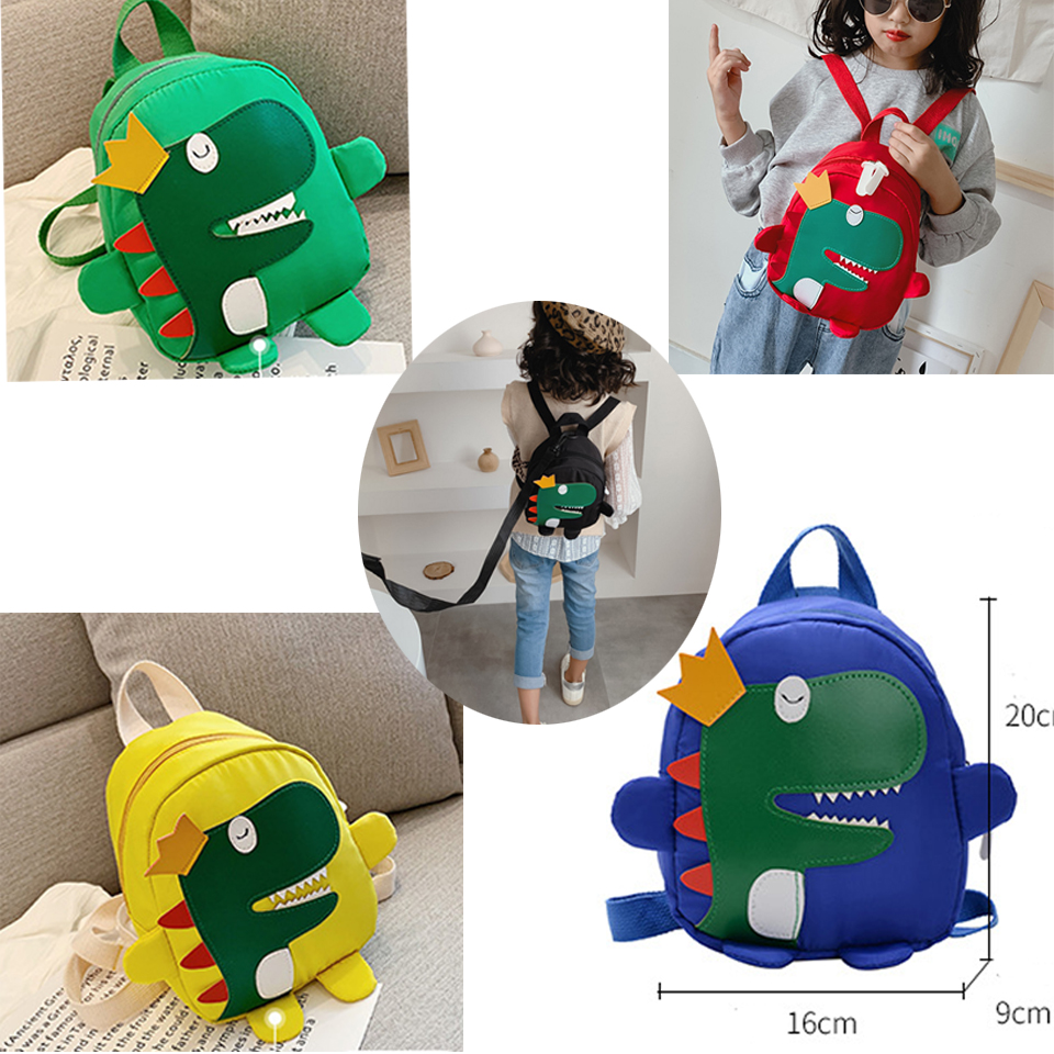 Baby Toddler Backpack Kids Safety Harness Strap Bag With Reins-Cartoon Dinosaur Anti-Lost Safety Reins Walking Toddler Backpack