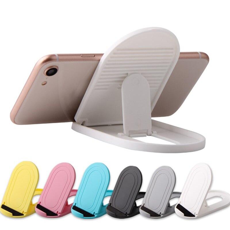 6 Colors Adjustable Plastic Mobile Phone Folding Storage Desktop Stand Holders Bracket Living Room Tool Home Organization Racks