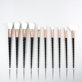 10pcs Unicorn Makeup Brush Set Foundation Blending Powder Eye shadow Make Up Brushes White Black Cosmetic Beauty Make Up Tools цена 2017