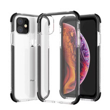 Dual Layers Shockproof Clear Case for iPhone 11 2019 Pro 7 8 6 6S Plus Full body For X XS Max XR Soft TPU Cover