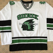 Северная Дакота Fighting Sioux Университет Ретро Возврат хоккейная Джерси Вышивка сшитая настроить любой номер и имя
