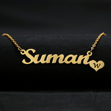 Custom Heart Charm Name Necklace Gift For Women Personalized Women Name Necklace Pendant Jewelry School Gift For Girlfriend zakolsimple square drop shaped zirconia pendant charm necklace fashion jewelry wedding for bride gift for girlfriend fsnp2068