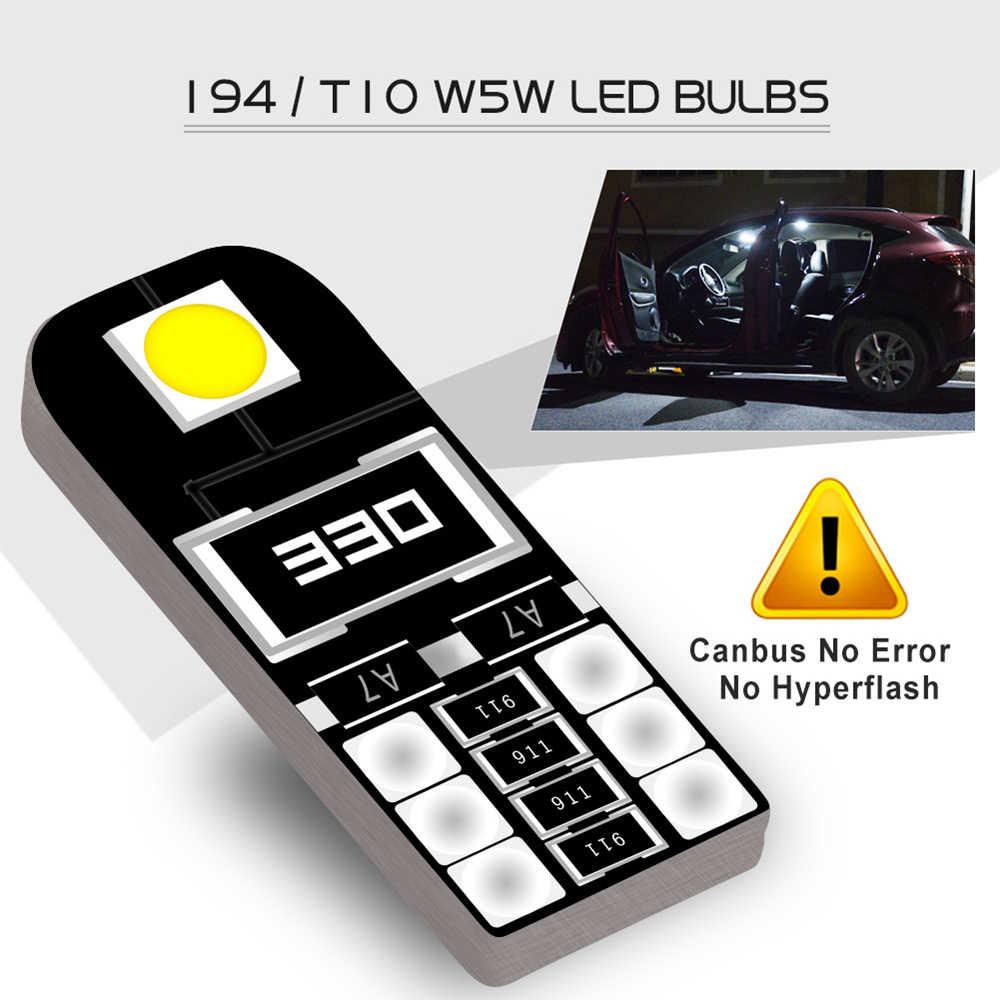 10 adet Canbus W5W T10 LED ampul araba iç aydınlatma Hyundai i30 Tucson Solaris Elantra Santa Fe ix35 i20 i10 accent Sonata