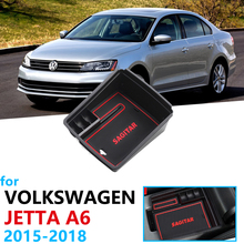 Car Organizer Accessories for Volkswagen VW Jetta A6 5C6 Armrest Box Storage Stowing Tidying Coin Box