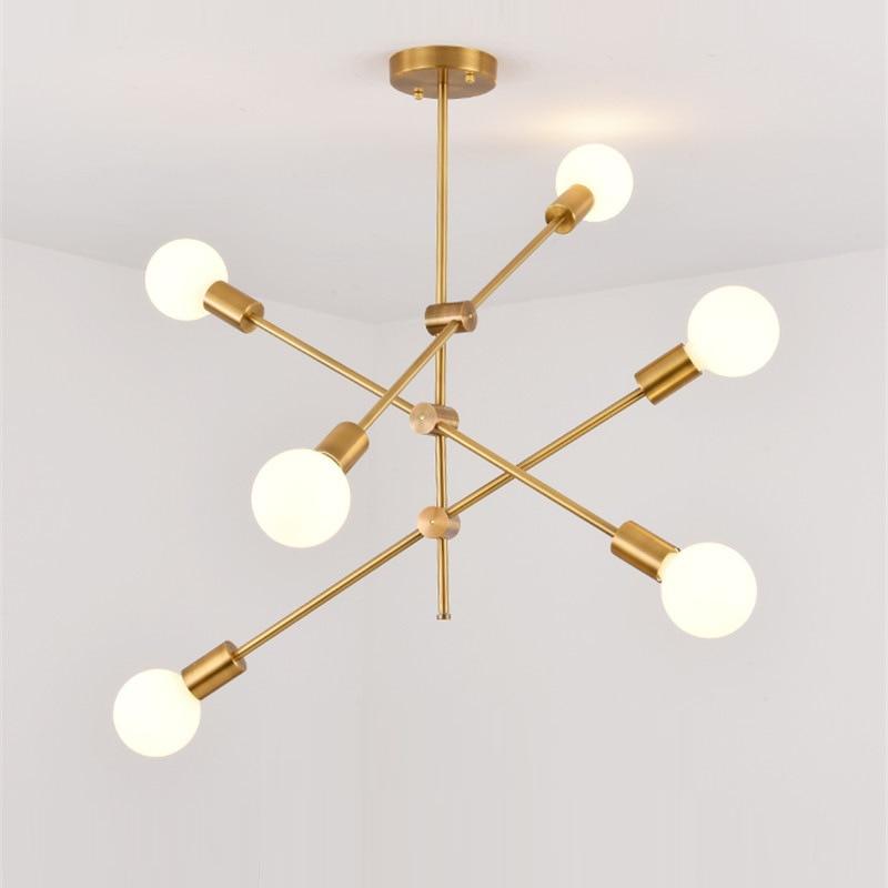 Nordic Led Chandelier Lights Golden Geometric Molecules Modern Led Chandeliers Dining Room Industrial Decor Kitchen Fixtures|Chandeliers| |  - title=