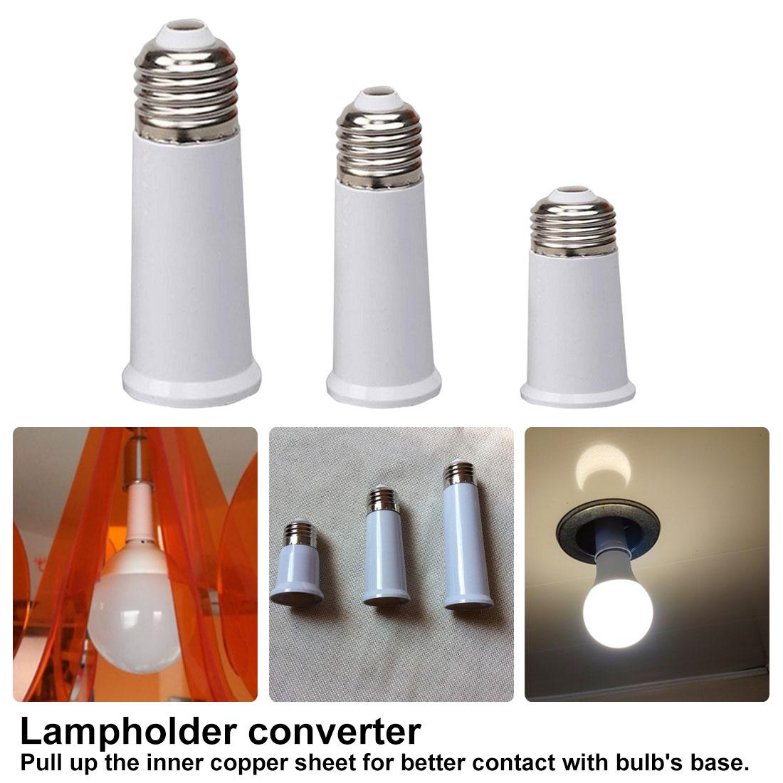 E27 To E27 Extension Base Lengthen Lamp Base Converter Extender Lamp Socket Extension Light Bulb Holder Screw Adapter