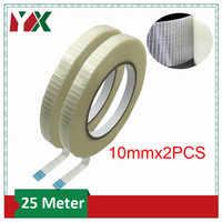 YX 10mm Hohe Festigkeit Transparent Grid Glas Faser Band 2PCS Verstärkt Kunststoff Wasserdicht Und Tragen-Resistant Adhesive band 25M