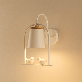 Nordic birds glass light kids bedroom wall light living room hotel corridor aisle restaurant lamp study bedside lamp wall sconce nordic simple living room wall lamp bedroom bedside lighting creative aisle background crystal glass wall sconce light fixture