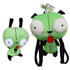 Новый Alien invicder Zim 3D Eyes Robot Gir, 5,5 дюйма, плюш и 14 дюймов, плюшевая сумка-рюкзак, мягкая игрушка, кукла подарочный набор для детей из 2 предметов