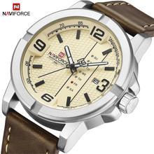 Часы NAVIFORCE с датой недели, кварцевые часы для мужчин, повседневные военные спортивные наручные часы из искусственной кожи, мужские часы, 2020