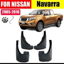 Mud Flaps For NISSAN Navarra Mudguards Fender flap splash Guard Fenders Accessories auto styline Front Rear 4 PCS