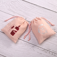 Pouches Jewelry Personalized Packaging Logo Gift Wedding Pink for Party-Decoration Bags
