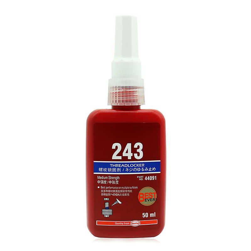 Agente de bloqueo de rosca de pegamento de 50ml adhesivo anaeróbico 243 pegamento resistencia al aceite secado rápido Dropshipping