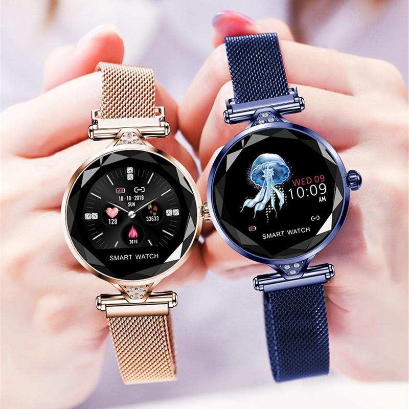 Heacdf04680144b9c8b29823553061cc3X 2021 Fashion Smart Watch Women IP68 waterproof Multi-sports modes Pedometer Heart Rate smartwatch Fitness Bracelet for Lady Gift