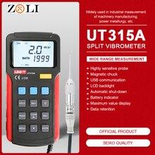 UNI-T UT315A ручной промышленный цифровой измеритель вибрации прибор зонд анализатор вибрации точность измерения вибратор тестер