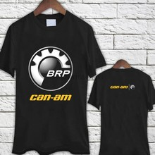 CAN AM Logo BRP ATV Renegade UTV Outlander Black TShirt Tee Shirt New Fashion Mens Short Sleeve Tshirt Cotton T Shirts 2018 tops(China)
