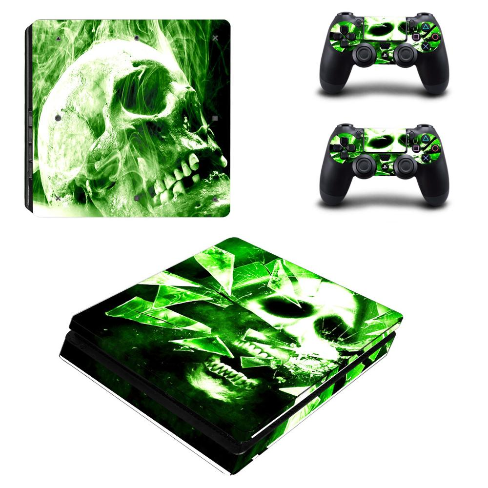 Stickers Station Ps4 Slim Console Controller Vinyl 4-Play for And Skull Pegatinas title=
