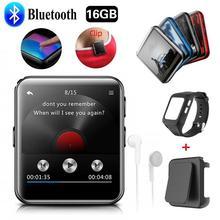 Bluetooth MP3 плеер с сенсорным экраном, 8 ГБ/16 ГБ, MP3 плеер с зажимом для бега, бега, поддерживает FM, видео, секундомер для детей и взрослых