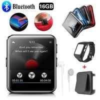Bluetooth MP3 Giocatore Dello Schermo di Tocco 8G/16G Clip MP3 Player per Corsa E Jogging, da Jogging Supporta Fm, video, Cronometro per I Bambini E Adulti