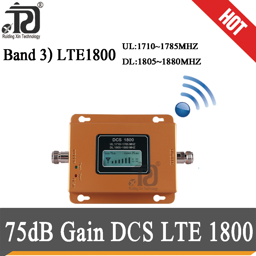Russia 75dB Gain 4G Signal Booster 1800mhz Cellular Repeater GSM 1800 MHz 4G DCS LTE 1800 Mobile Phone Booster 4G Amplifier