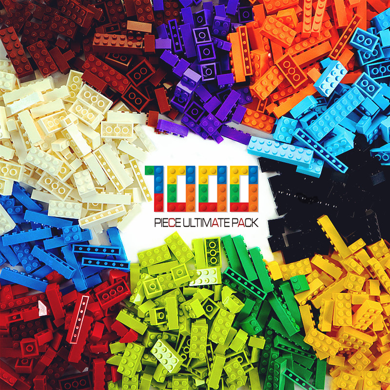 1000 Pieces Building Blocks DIY Creative Bricks Bulk Model Figures Educational Kids Toys Compatible All Brands Friends