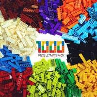 1000 Pieces Building Blocks DIY Creative Bricks Bulk Model Figures Educational Kids Toys Compatible All Brands Friends