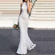 Элегантное Белое Женское платье для выпускного вечера кружевное