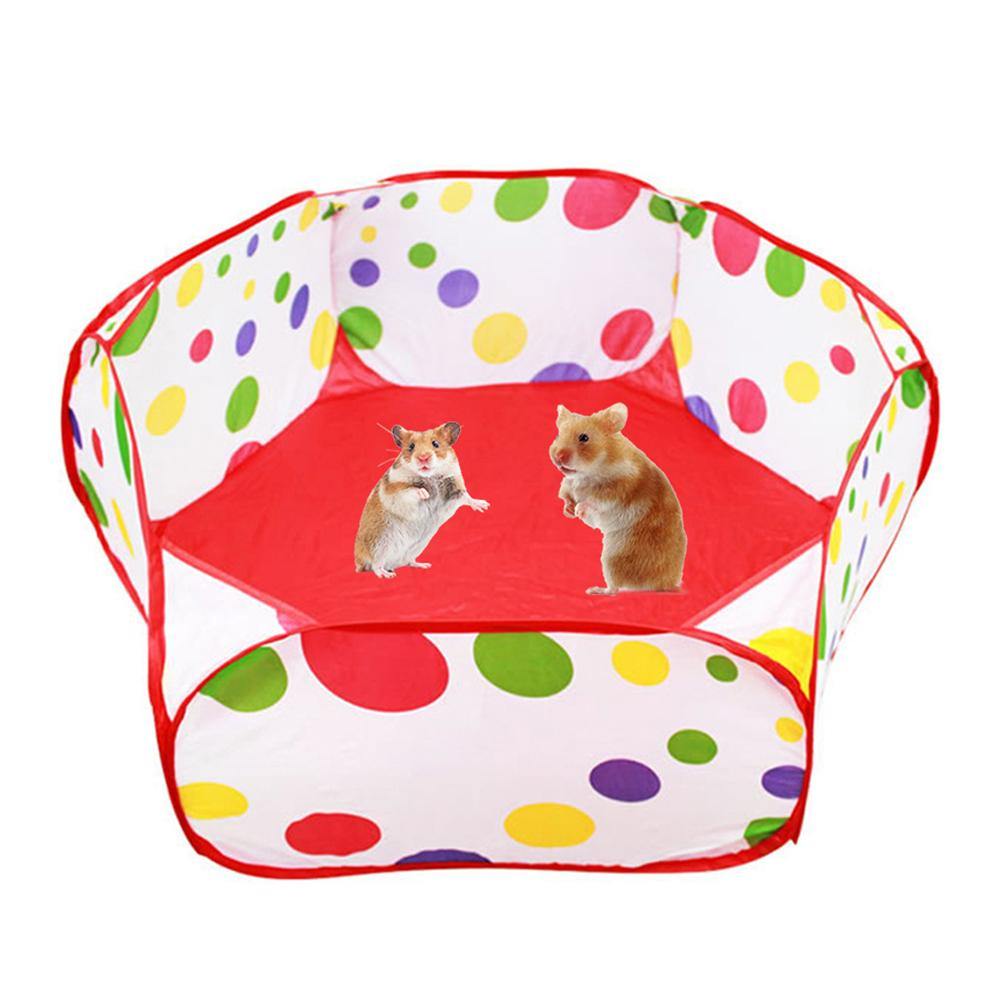 Portable Pet Playpen Outdoor Indoor Children's Game Folding Fence For Small Animals Cage Tent Hamster Rabbit Pet Cage Tent