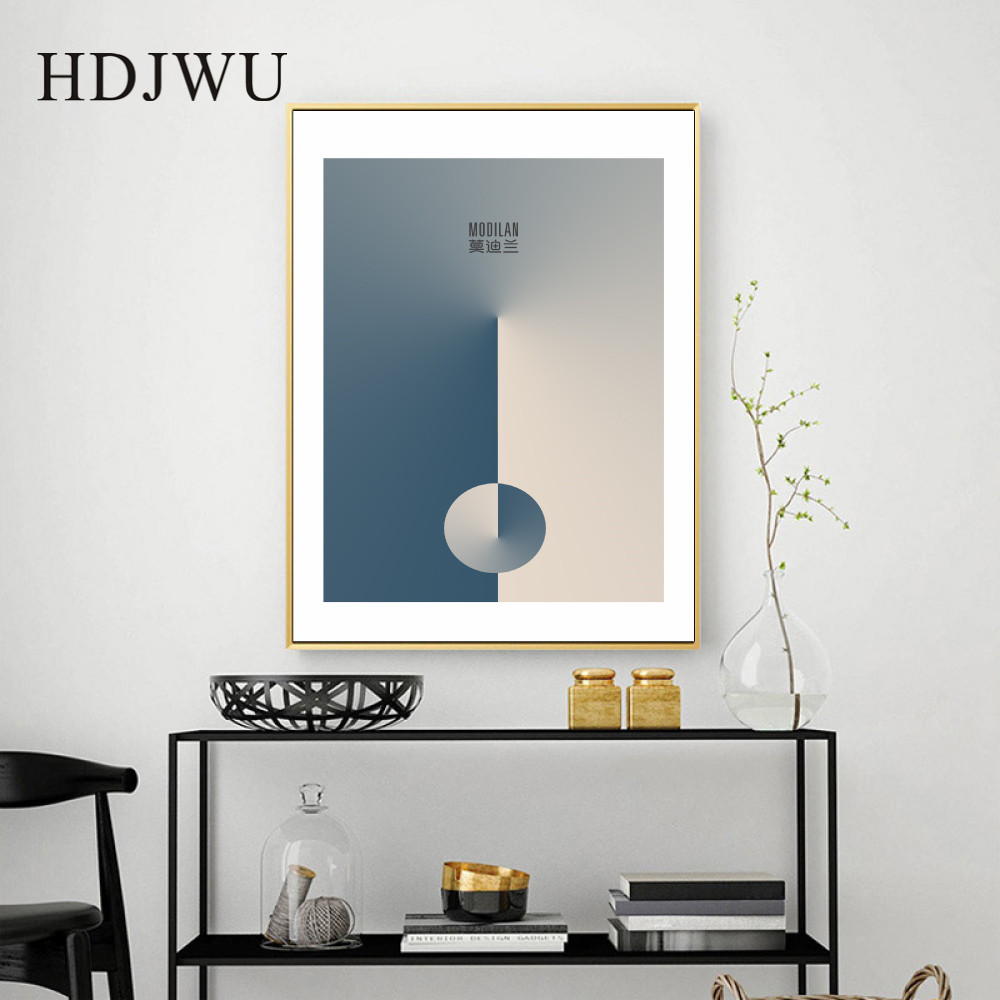 Nordic Minimalism Art Home Canvas Painting Wall Picture Abstract Printing Wall Poster for Living Room DJ430 in Painting Calligraphy from Home Garden