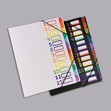 Paper-Folder Classification-Folder Book-Sheet A4 Student Insert Information Rainbow-Color