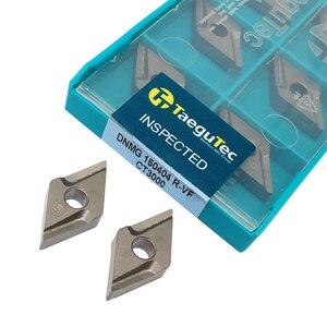 Image 1 - 10 pces dnmg150404 r vf ct3000 ferramentas de torneamento externo cermet grau carboneto inserção torno ferramenta tokarnyy torneamento inserção