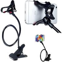 Soporte Universal para teléfono móvil, pinza de teléfono móvil ajustable y Flexible, soporte de escritorio para el hogar, soporte para Smartphone