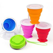 1 Set Hot Sale Water Bottle Solid Color Classic Delicate Silicone Outdoor Travel Cycling Foldable Portable Tea Cups