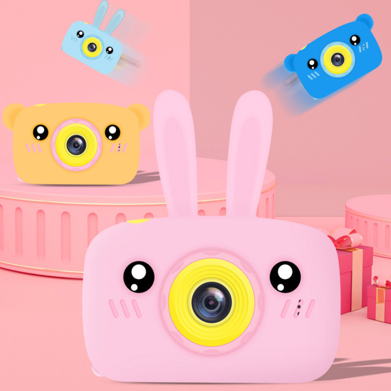 Rabbit Bear Digital Mini Camera Kids Cute Educational Camera Toy Photography Props Baby Child Birthday Gift Outdoor Game #S