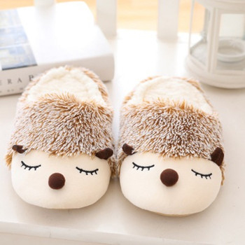 FAYUEKEY 2020 Autumn Winter Cartoon Animals Home Cotton Plush Warm Slippers Women Indoor Floor Flat Shoes Girls Christmas Gift 3