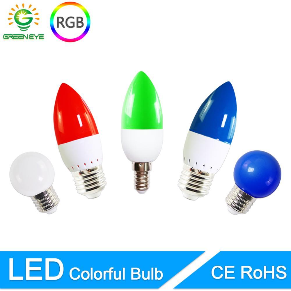 LED Lamp E27 E14 3W G45 C35 RGB Colorful Led Candle Light Led Bulb SMD 2835 AC 220V 240V Flashlight Globe Bulbs Home Decor For H