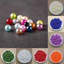 50-2000Pcs 3-10mm Colorful Round Pearl Beads Jewellery DIY Marking Loose Spacer Bracelet Necklace Charm Jewelry Finding
