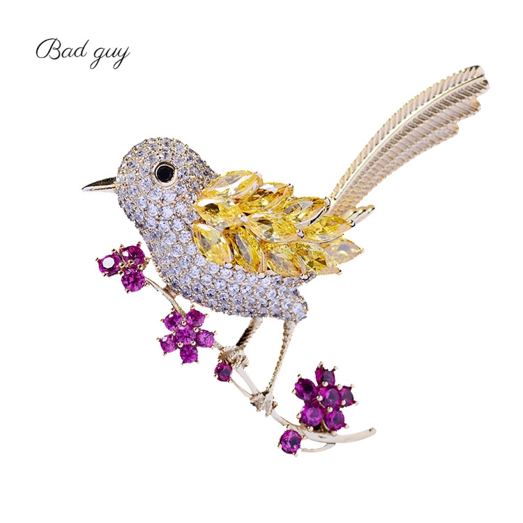 Bird Brooch Pins Magnet Pin Cute Pins Accessories for Clothes Decoration Brooch Pins Fine Jewelry Copper Brooch Zircon Brooche-0