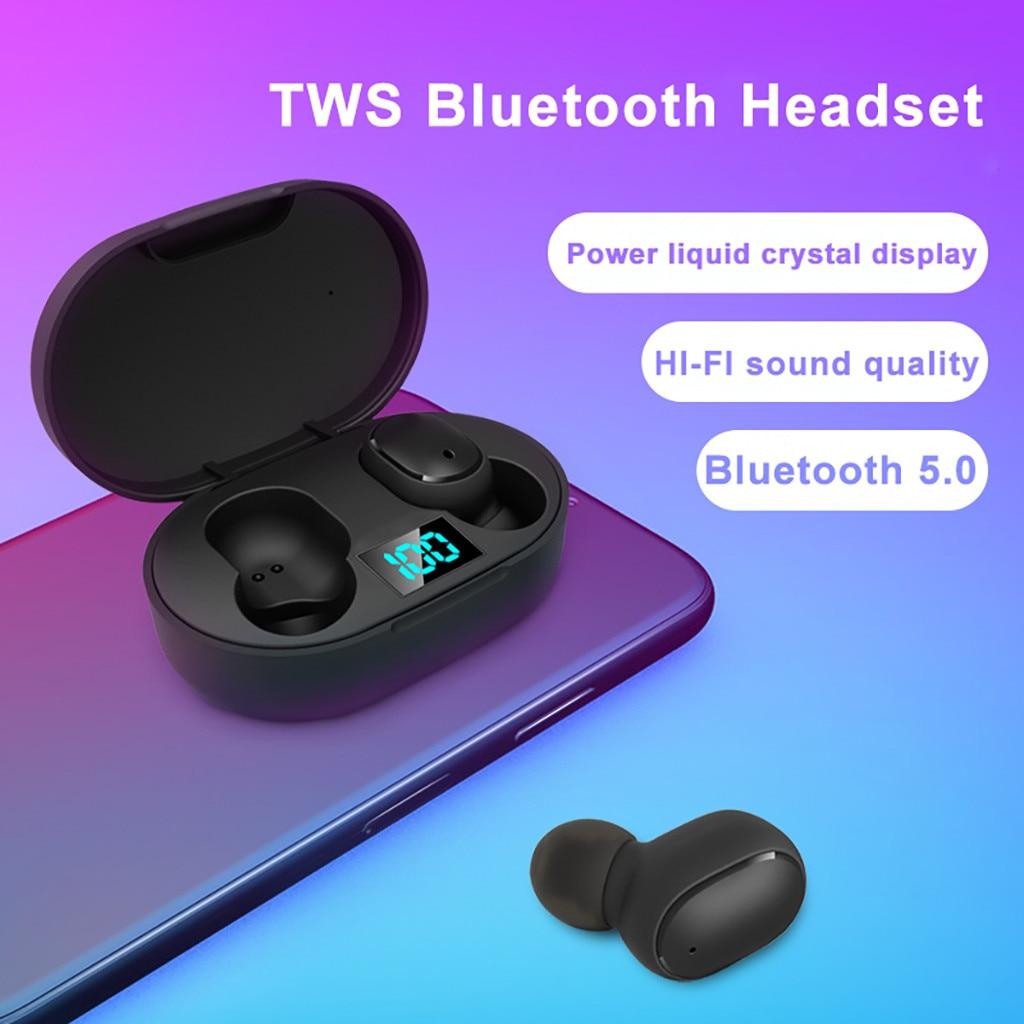 E6s Беспроводной вкладыши TWS Bluetooth 5,0 стерео наушники, регулятор баса, наушники-вкладыши гарнитура Беспроводной Bluetooth наушники Шум шумоподавл...