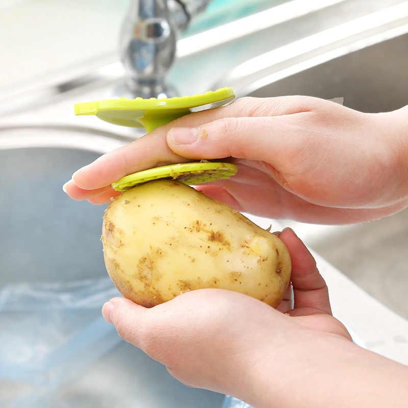 Descascador de batata de plástico frutas vegetais escova de limpeza multi-funcional fácil escova de limpeza cenoura gengibre descascador de cozinha gadgets