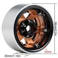 INJORA 4PCS Metal 6 Spokes 1.9 Beadlock Wheel Hub Rim for 1/10 RC Crawler Axial SCX10 90046 AXI03007 Traxxas TRX4 RedCat MST 5