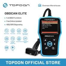 TOPDON Ultrascan OBDCAN ELITE Diagnostic Tool EOBD ABS SRS Code Reader Scan Tool OBD2 Scanner Car Full OBDII OBD 2 II Function